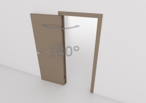 Wood - Porta interna laccata cerniere a scomparsa - VillaRe